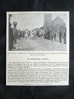 Immagine del venditore per A Tientsin, in Cina - Partenza di una maratona internazionale Stampa del 1909 venduto da LIBRERIA IL TEMPO CHE FU