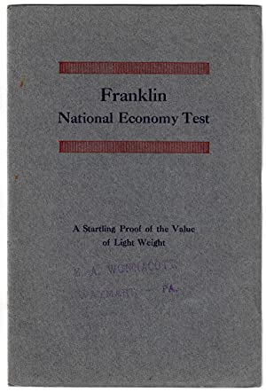 Franklin National Economy Test. Ninety-four Cars Average 32.8 Miles on One Gallon of Gasoline. A ...