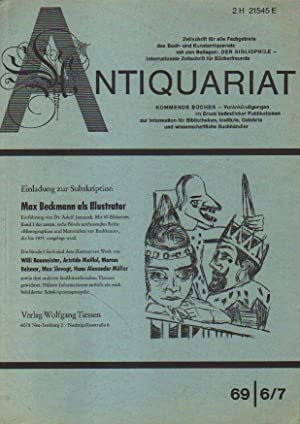 Antiquariat. 6/7, 69 bis 11/12, 68.