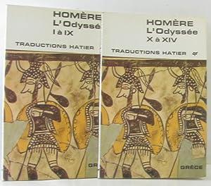Image du vendeur pour L'odyssée I à IX + l'odyssée X à XIV ---- traductions hatier - traduction Georgin et Berthaut mis en vente par crealivres