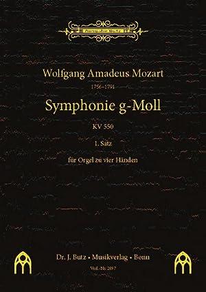 1. Satz aus Sinfonie g-Moll KV550für Orgel: Wolfgang Amadeus Mozart