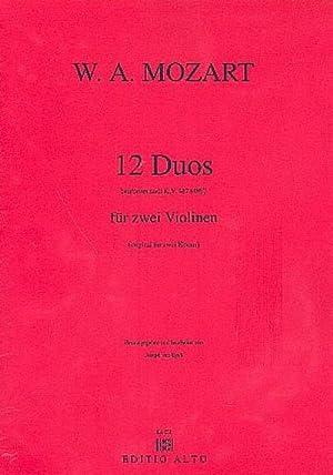 12 Duos nach KV487 (KV496a)für 2 Violinen: Wolfgang Amadeus Mozart