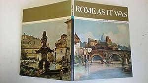 Rome as it Was a Century Ago: Cartocci, Sergio