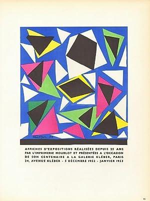 Affiches d'expositions réalisées depuis 25 ans par: Matisse, Henri