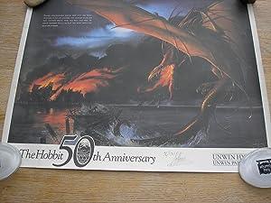 Bild des Verkäufers für The Hobbit 50th Anniversary Limited Edition Poster, +++SIGNED+++ By Artist, John Howe zum Verkauf von Coach Books