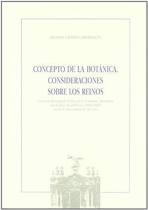 Concepto de la botanica. consideraciones sobre los: Valdes Castrillon, Benito