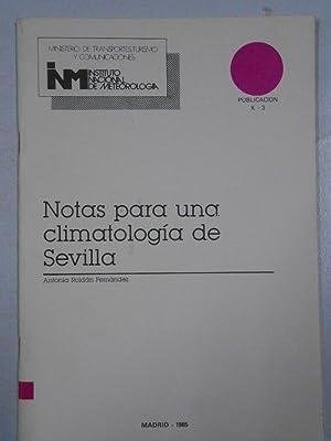 NOTAS PARA UNA CLIMATOLOGIA DE SEVILLA. ANTONIA