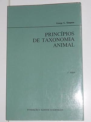 PRINCIPIOS DE TAXONOMIA ANIMAL. GEORGE G. SIMPSON.