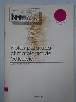 NOTAS PARA UNA CLIMATOLOGIA DE VALENCIA. ANTONIA