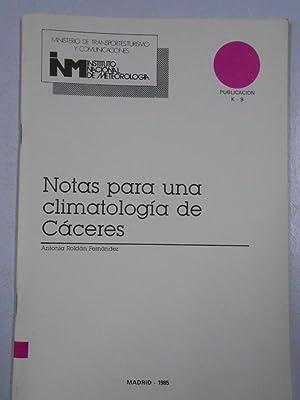 NOTAS PARA UNA CLIMATOLOGIA DE CACERES. ANTONIA