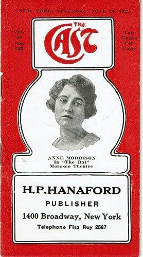 THE CAST. New York, Saturday, June 24,: H.P. Hanaford Publisher).