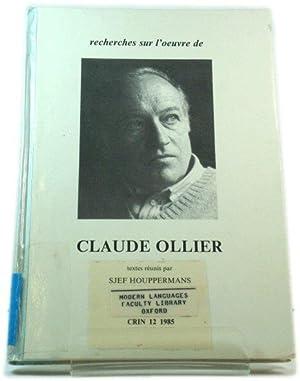Recherches sur l'oeuvre de Claude Ollier: Houppermans, Sjef