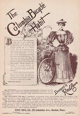 ORIG. VINTAGE MAGAZINE AD: 1894 COLUMBIA BICYCLE: N/A