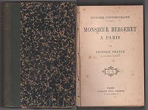 Immagine del venditore per Monsieur Bergeret a Paris venduto da libreria biblos