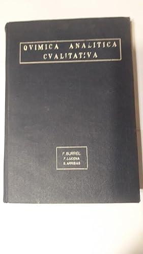 Quimica analitica cualitativa: F. Burriel. F.