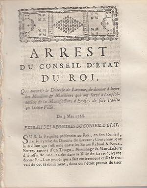 Arrest du Conseil du Roi, qui autorise: De Vougny [Manufacture