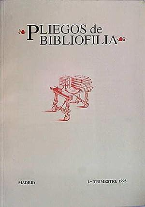 Pliegos de bibliofilia: Varios