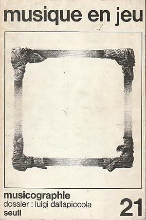 Musique en jeu n° 21 - Musicographie,: COLLECTIF (revue),