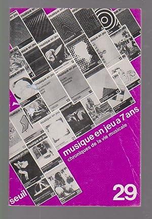 Musique en jeu n° 29: Musique en: COLLECTIF (revue),