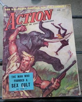 ACTION Men Adventure Magazine V1 #3 July: M. P. Moore;