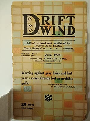 Driftwind Vol. XIII - No. 1, July 1938