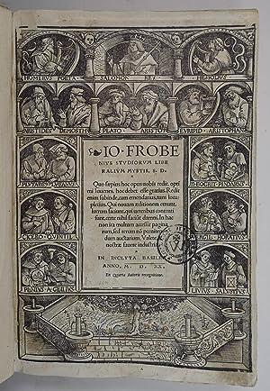 Adagiorum chiliades quatuor). Io. Frobenius studiorum liberalium: Erasmus von Rotterdam