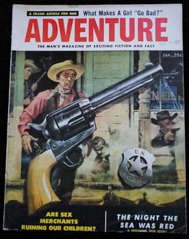 ADVENTURE Men Magazine January 1958 Stanley Nappi: Fred Kirberger; Walter