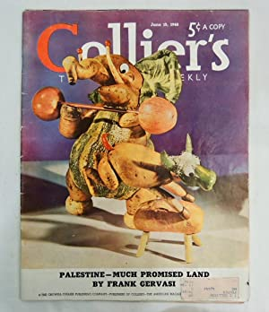 Collier's Magazine June 15, 1940 Elephant & Donkey sculpture made of food cover