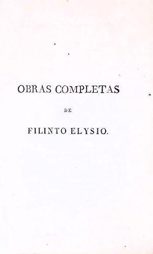 OBRAS COMPLETAS: ELÍSIO. (Filinto)