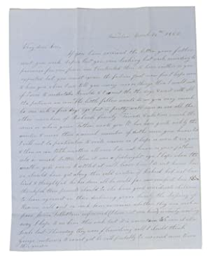"""AUTOGRAPH LETTER[S], Signed.; To her """"Very Dear: California Gold Rush"""