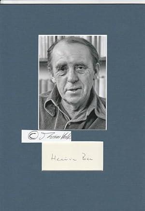 HEINRICH BÖLL (1917-85) deutscher Schriftsteller, Literatur-Nobelpreis 1972: HEINRICH BÖLL (1917-85)