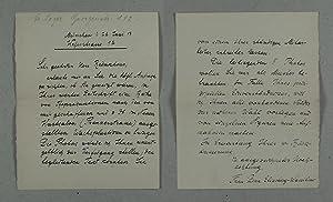 L.a.s. - Handgeschriebener signierter und datierter Brief an Adolf Saager, München.: ...