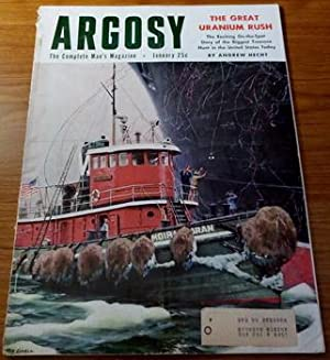 Seller image for ARGOSY Men Adventure Magazine January 1955 Lovell Fawcett Dwyer Uranium Rush for sale by Comic World