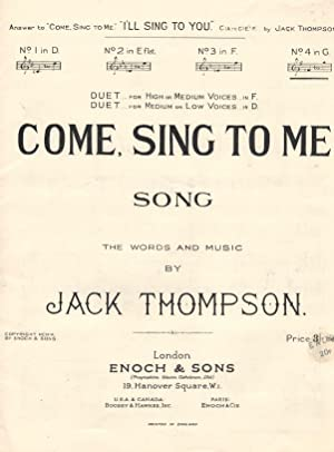Come Sing to Me Song Sheet in G