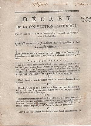 Décret de la Convention nationale, du 25.e: Louis-Jérôme Gohier -