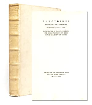 The History of the Peloponnesian War: Thucydides (translated by