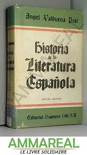 Historia de la Literatura Espanola. II: Angel Valbuena Prat