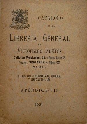 CATÁLOGO DE LA LIBRERÍA GENERAL DE VICTORIANO: PUBLICACIÓN CORPORATIVA