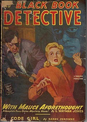 "BLACK BOOK DETECTIVE Magazine: Fall 1946 (""With Malice Aforethought""): Black Book Detective..."