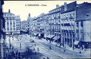 Ansichtskarte / Postkarte Saragossa Aragonien Spanien, Coso