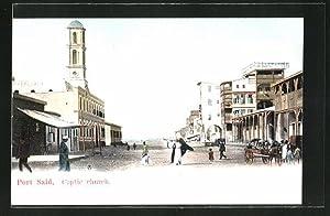 Ansichtskarte Port Said, Coptic church