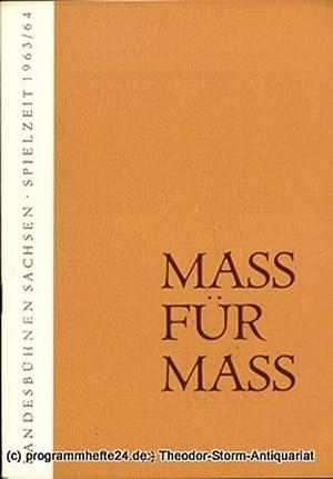 Programmheft Mass für Mass. Komödie von William: Landesbühnen Sachsen, Intendant