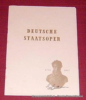 Programmheft Fidelio. Oper von Ludwig van Beethoven.: Deutsche Staatsoper Berlin