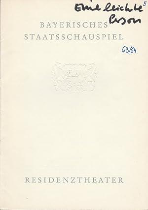 Programmheft Eine leichte Person von Emil Pohl.: Bayerisches Staatsschauspiel, Residenztheater,