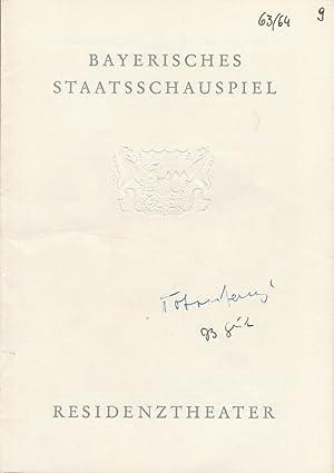 Programmheft TOTENTANZ von August Strindberg. Premiere 1.: Bayerisches Staatsschauspiel, Residenztheater,