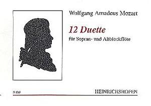 12 Duosfür 2 Blockflöten (SA) : Spielpartitur: Wolfgang Amadeus Mozart