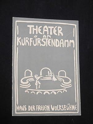 Programmheft Theater am Kurfürstendamm 1957/58. DER ALPENKÖNIG: Herausgegeben von der