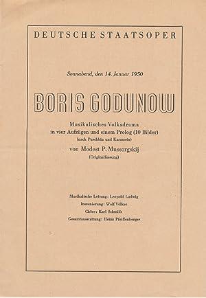 Programmheft BORIS GODUNOW. Musikalisches Volksdrama von Modest: Deutsche Staatsoper Berlin