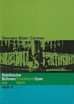 Programmheft Georges Bizet: CARMEN 22. Februar 1964: Städtische Bühnen Frankfurt