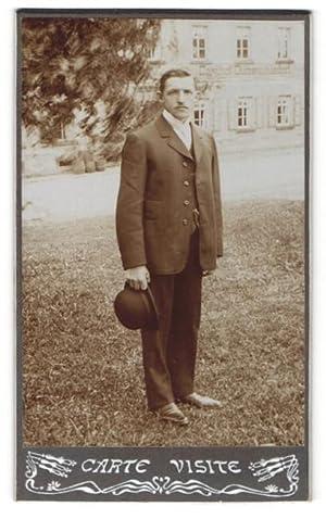 Fotografie Carte Visite Alfred Rheinbach, Wilsdruff, Portrait